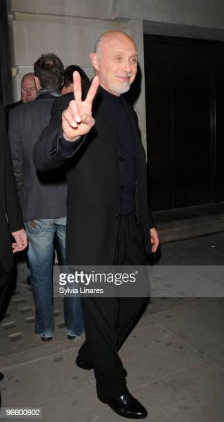 Hector Elizondo leaving the Valentine's Day after party held at Aqua Club on February 11 2010 in London England