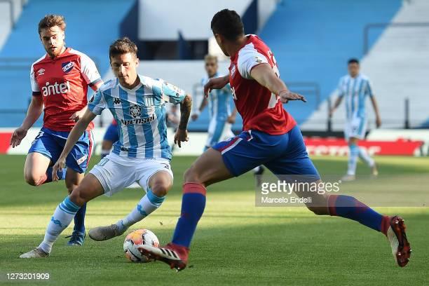 Hector Fertoli of Racing Club controls the ball during a group F match of Copa CONMEBOL Libertadores 2020 between Racing and Nacional at Juan Domingo...