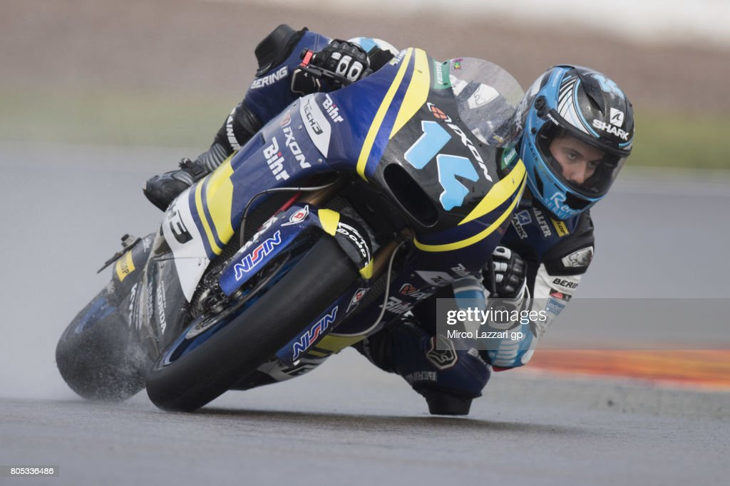 Hector Garz of Spain and Tech3 Racing rounds the bend during the MotoGp of Germany - Qualifying at Sachsenring Circuit on July 1, 2017 in Hohenstein-Ernstthal, Germany.