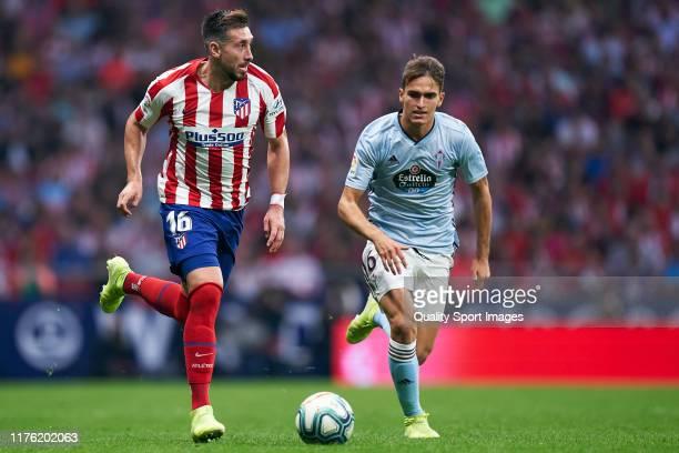 Hector Herrera of Atletico de Madrid in action during the La Liga match between Club Atletico de Madrid and RC Celta de Vigo at Wanda Metropolitano...