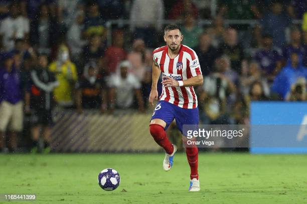 Hector Herrera of Atletico Madrid controls the ball during the 2019 MLS AllStar Game between MLS All Stars and Atletico de Madrid at Exploria Stadium...