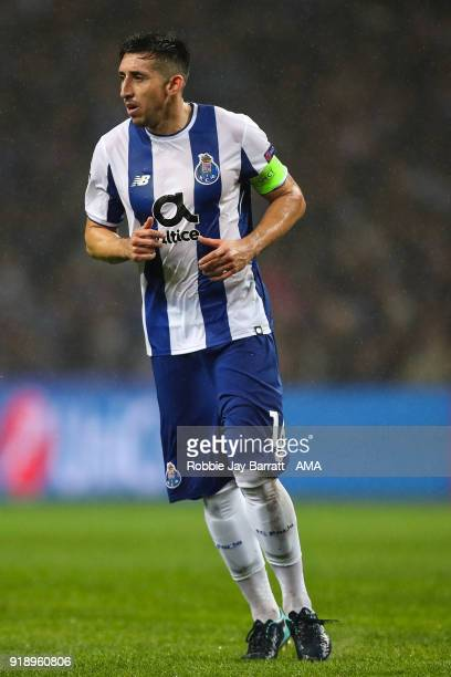 Hector Herrera of FC Porto during the UEFA Champions League Round of 16 First Leg match between FC Porto and Liverpool at Estadio do Dragao on...