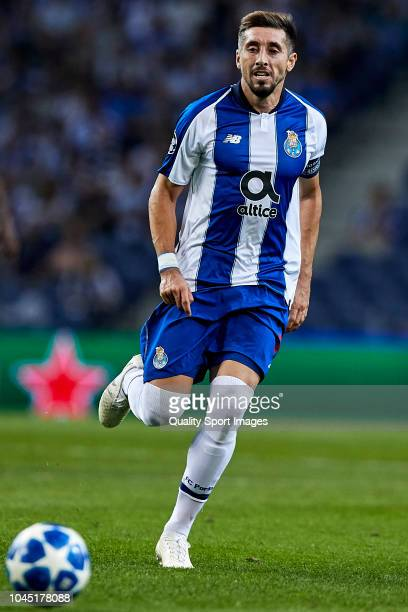Hector Herrera of FC Porto in action during the Group D match of the UEFA Champions League between FC Porto and Galatasaray at Estadio do Dragao on...