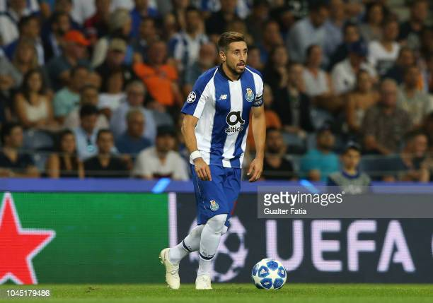 Hector Herrera of FC Porto in action during the UEFA Champions League Group D match between FC Porto and Galatasaray at Estadio do Dragao on October...