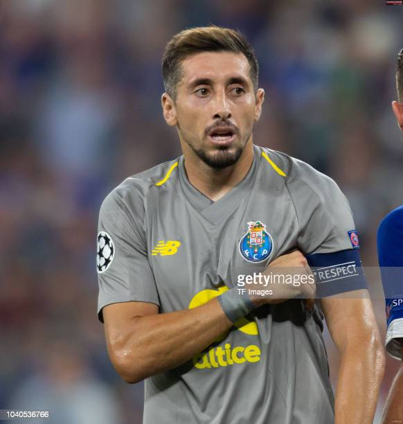 Hector Herrera of FC Porto looks on during the UEFA Champions League Group D match between FC Schalke 04 and FC Porto at VeltinsArena on September 18...