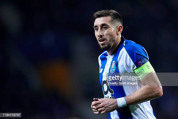 Hector Herrera of FC Porto looks on during the UEFA Champions League Round of 16 Second Leg match between FC Porto and AS Roma at Estadio do Dragao...