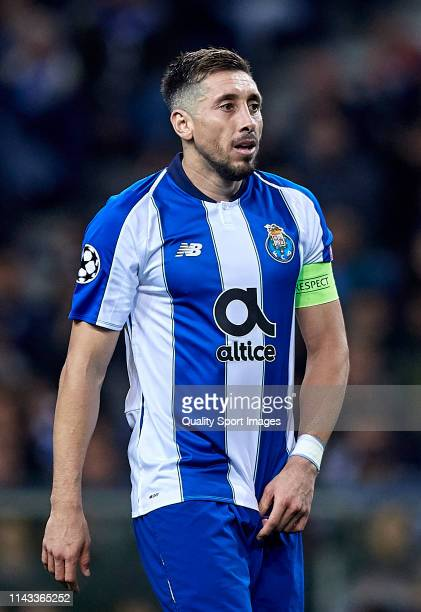 Hector Herrera of FC Porto looks on during the UEFA Champions League Quarter Final second leg match between Porto and Liverpool at Estadio do Dragao...