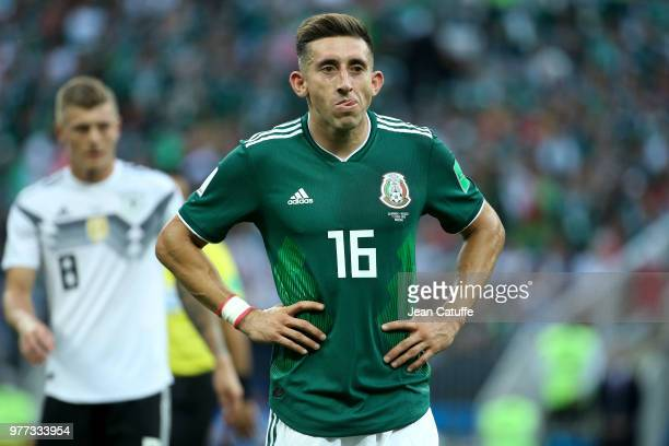 Hector Herrera of Mexico during the 2018 FIFA World Cup Russia group F match between Germany and Mexico at Luzhniki Stadium on June 17 2018 in Moscow...
