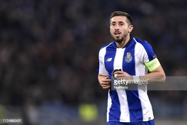 Hector Herrera of Porto during the UEFA Champions League round of 16 match between AS Roma and FC Porto at Stadio Olimpico Rome Italy on 12 February...