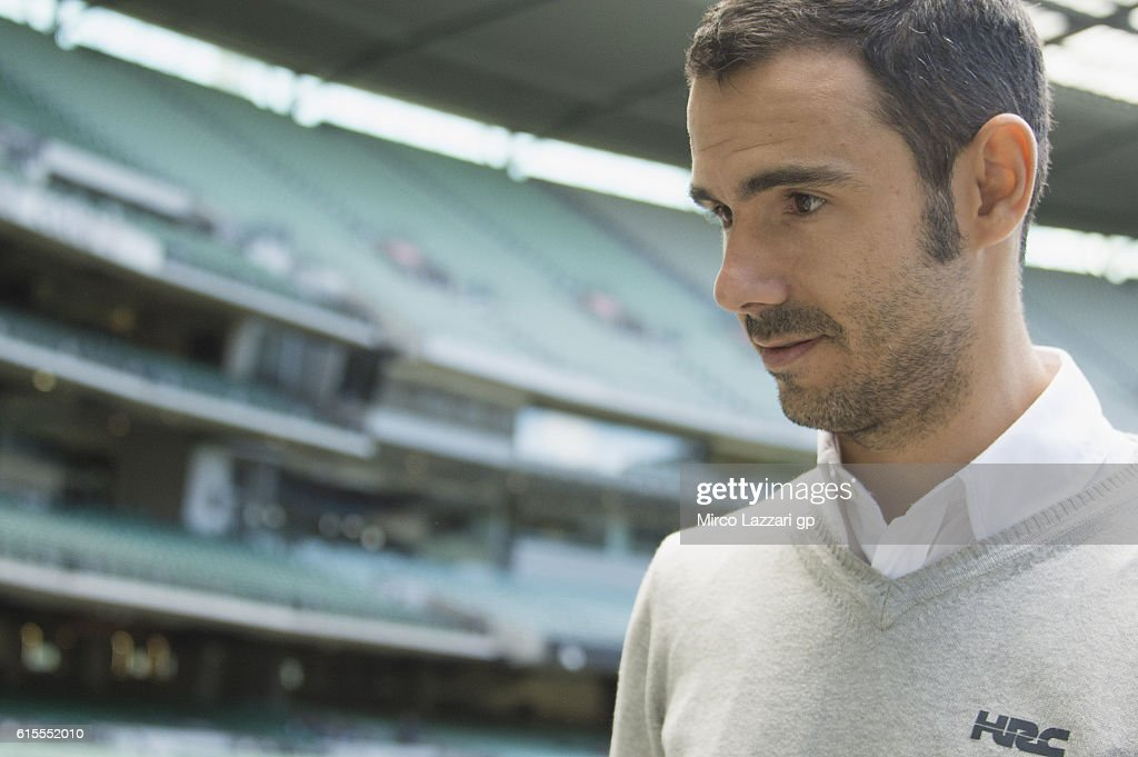 Hector Martin of Spain and Repsol Honda Team (Media Officer) looks on during the pre-event in Melbourne Cricket Ground during the MotoGP of Australia - Pre-Event Activities on October 19, 2016 in Melbourne, Australia.