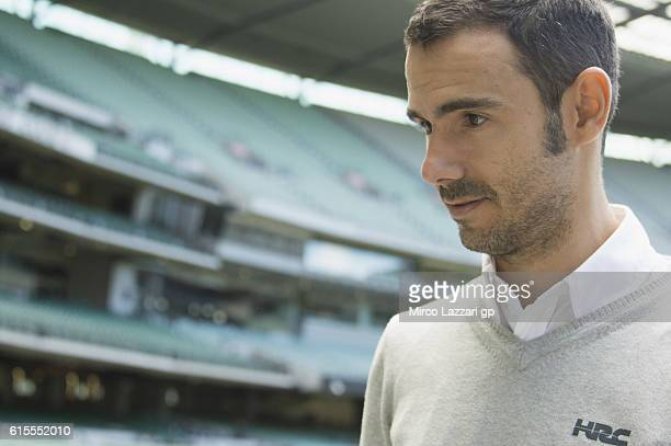 Hector Martin of Spain and Repsol Honda Team looks on during the preevent in Melbourne Cricket Ground during the MotoGP of Australia PreEvent...