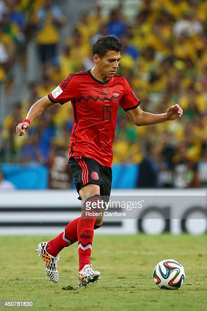 Hector Moreno of Mexico during the 2014 FIFA World Cup Brazil Group A match between Brazil and Mexico at Castelao on June 17 2014 in Fortaleza Brazil