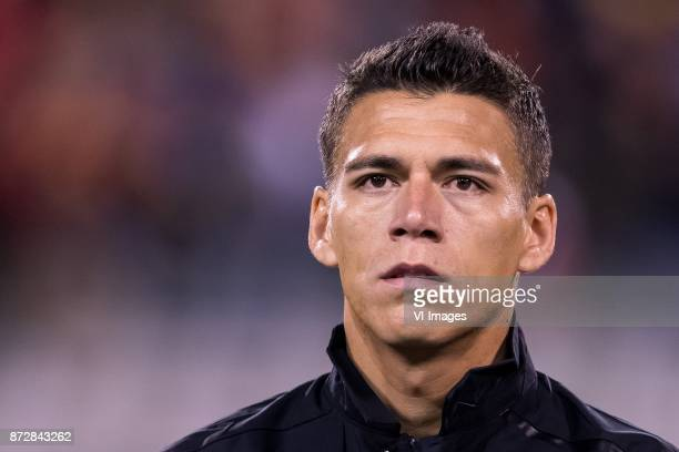 Hector Moreno of Mexico during the friendly match between Belgium and Mexico on November 10 2017 at the Koning Boudewijn stadium in Brussels Belgium