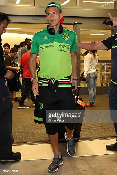 Hector Moreno of Mexico walks during the Mexico National Team arrival to United States at HartsfieldJackson International Airport on May 26 2016 in...