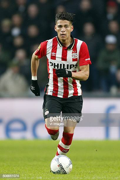 Hector Moreno of PSV during the Dutch Eredivisie match between PSV Eindhoven and FC Twente at the Phillips stadium on January 24 2016 in Eindhoven...