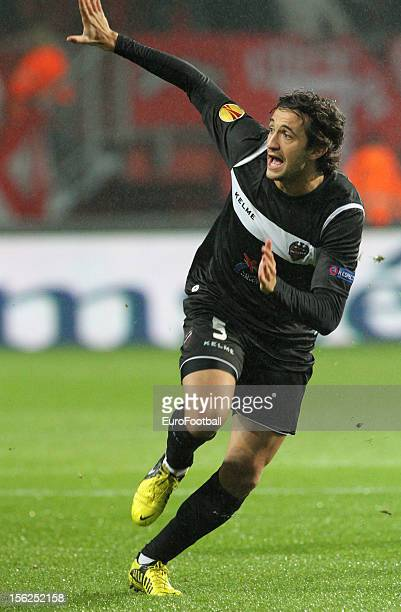 Hector Rodas of Levante UD in action during the UEFA Europa League group stage match between FC Twente and Levante UD held on November 8 2012 at the...
