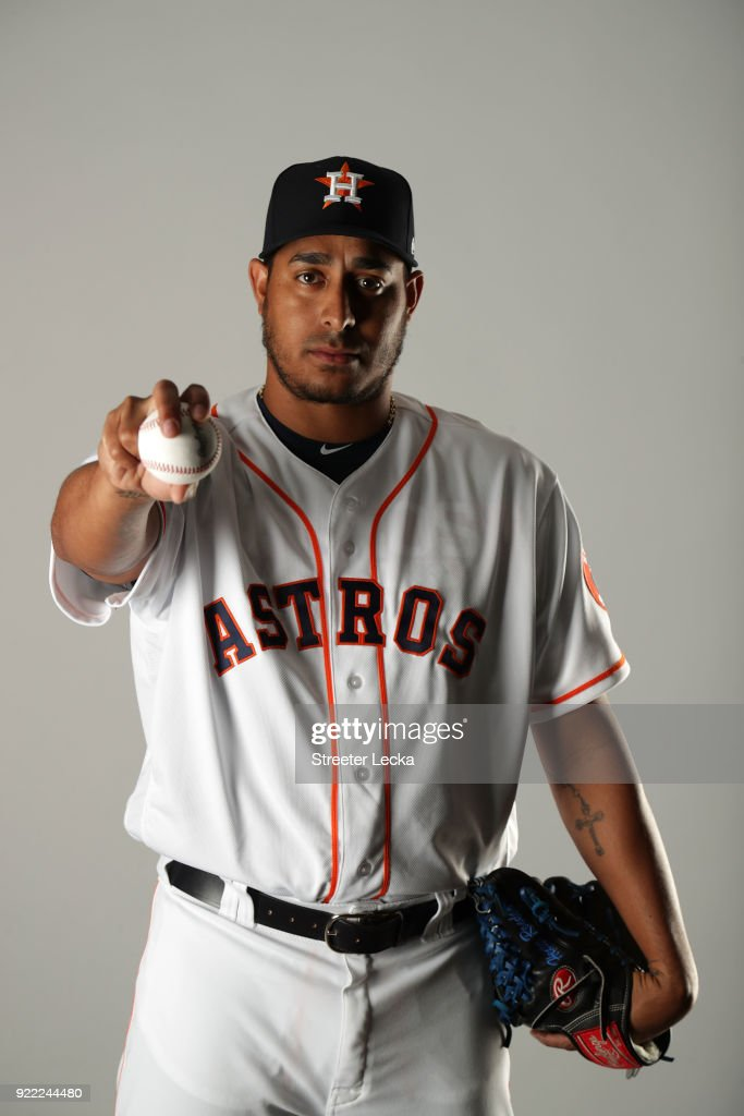 Hector Rondon #30 of the Houston Astros poses for a portrait at The Ballpark of the Palm Beaches on February 21, 2018 in West Palm Beach, Florida.