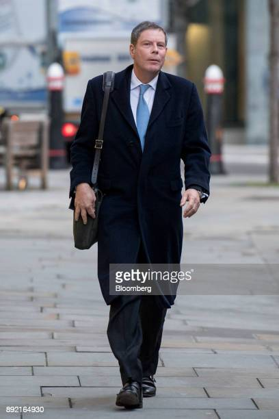 Hector Sants former chief executive officer of the Financial Services Authority arrives to testify in the trial looking into the 2009 acquisition of...