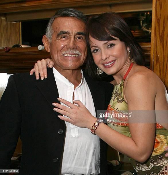Hector Suarez and Gabriela Spanic during Telemundo Celebrates New Production Tierra de Pasiones at The Forge in Miami Beach Florida United States