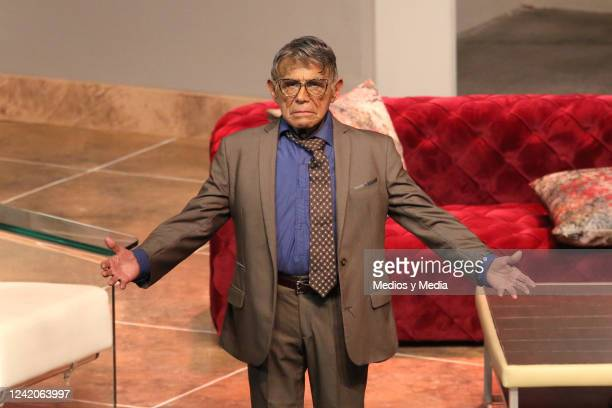 Hector Suarez during his performance in the 150 Representations of the play 'La Señora Presidenta' on August 12 at 'Teatro Aldama' in Mexico City...