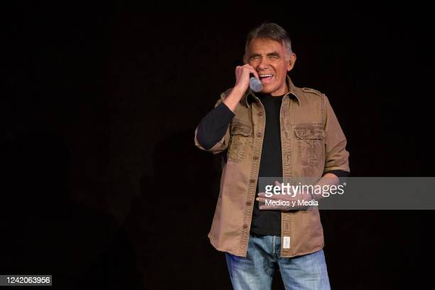 Hector Suarez performs during the premiere of Stand Up 'Los Locos Suarez' on December 15 at 'Teatro NH' in Mexico City Mexico