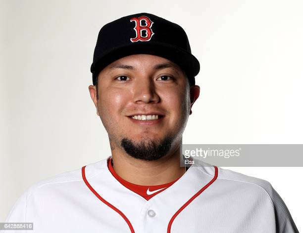 Hector Velazquez of hte Boston Red Sox poses for a portrait during the Boston Red Sox photo day on February 19 2017 at JetBlue Park in Ft Myers...