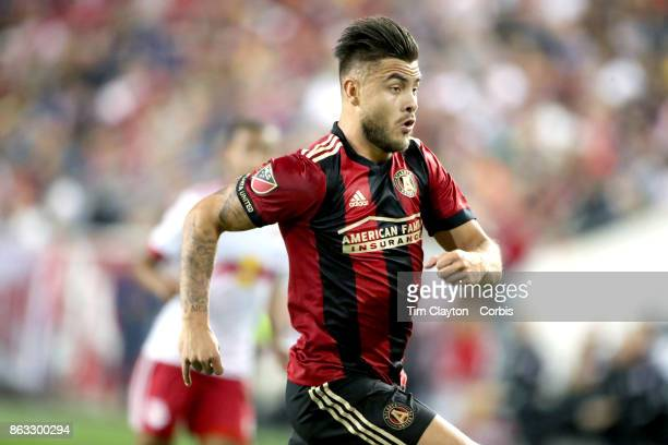 Hector Villalba of Atlanta United in action during the New York Red Bulls Vs Atlanta United FC MLS regular season match at Red Bull Arena Harrison...