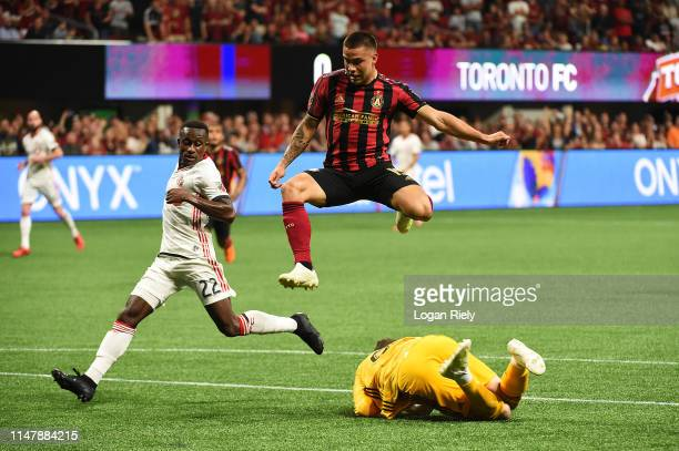 Hector Villalba of Atlanta United loses the ball during the game against Toronto FC at MercedesBenz Stadium on May 08 2019 in Atlanta Georgia