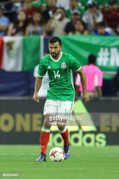 Hedgardo Marin of Mexico drives the ball during the friendly match between Mexico and Ghana at NRG Stadium on June 28 2017 in Houston Texas