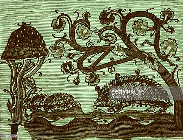 Hedgehogs and Mushroom Published in 'Bestiarium' c 1200