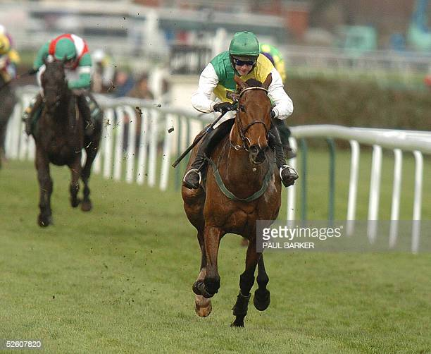Hedgehunter ridden by Ruby Walsh comes home to win the 2005 Grand National at Aintree Racecourse, in Liverpool, 09 April 2005. Second was Royal...