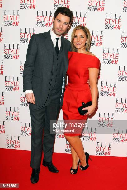 Hedi Range and Dave Berry arrives at the Elle Style Awards 2009 at Big Sky Studios on February 9 2009 in London England