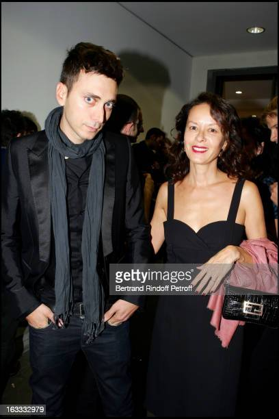 Hedi Slimane and Almina Ruiz Picasso at the Robert Mapplethorpe Exhibition Curated By Hedi Slimane A Galerie Thaddaeus Ropac In Paris