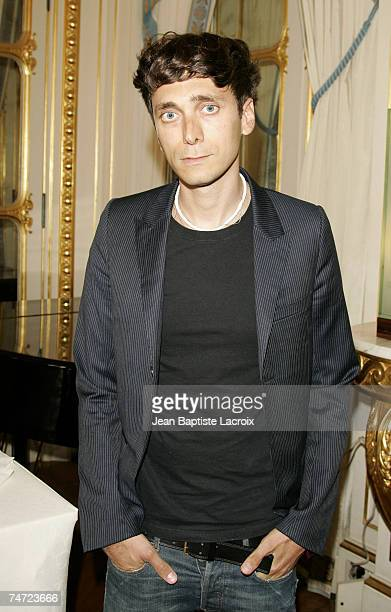 Hedi Slimane at the Ministry of Culture in Paris France