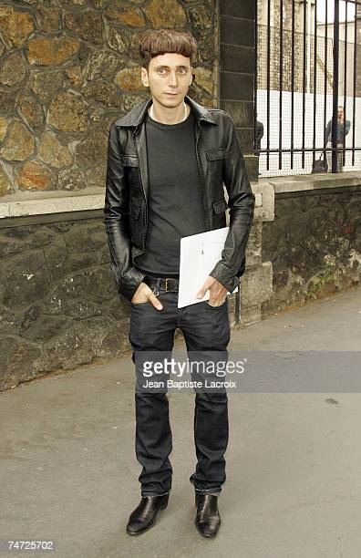 Hedi Slimane at the Paris Haute Couture Fashion Week Fall/Winter 2005 Chanel Arrivals at in Paris