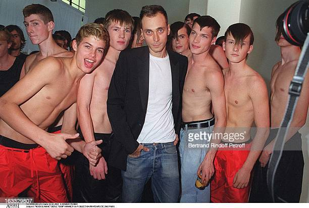 Hedi Slimane at theDior Catwalk Meanswear PAP Collection Spring Summer 2002 In Paris