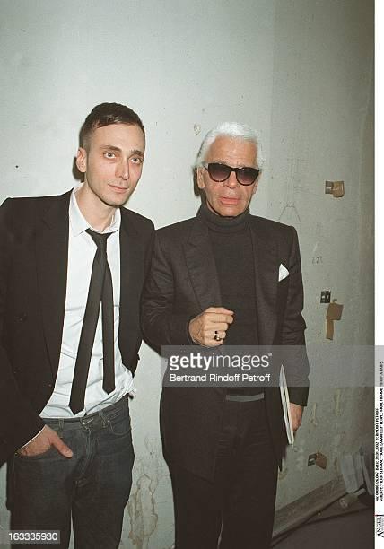 Hedi Slimane Karl Lagerfeld man fashion Dior in Paris
