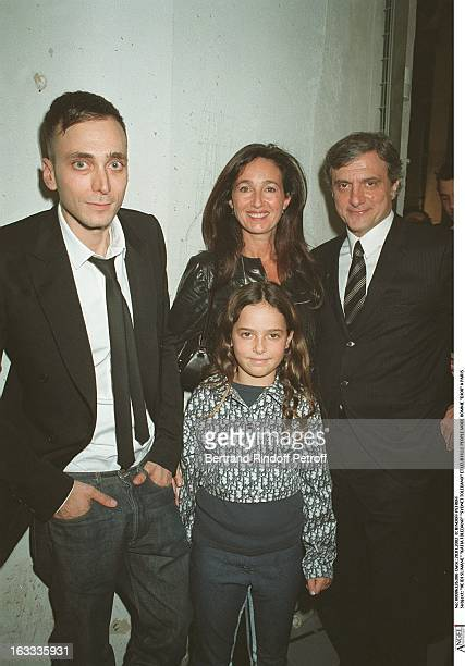 Hedi Slimane 'Katia Toledano' 'Sydnet Toledano' and their daughter man fashion 'Dior' in Paris