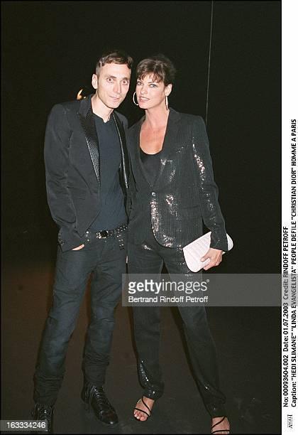 Hedi Slimane 'Linda Evangelista' People 'Christian Dior' masculine fashion show in Paris