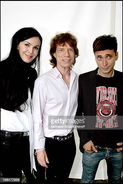 Hedi Slimane Mick Jagger and L'Wren Scott Dior fashion show masculine collections spring summer 2007