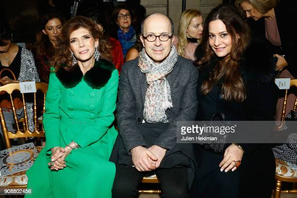 Hedieh Loubier JeanMarc Loubier and a guest attend the Georges Hobeika Haute Couture Spring Summer 2018 show as part of Paris Fashion Week on January...