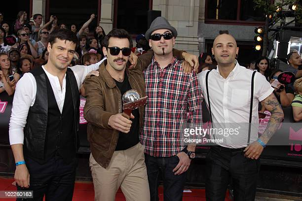 Hedley arrive on the red carpet of the 21st Annual MuchMusic Video Awards at the MuchMusic HQ on June 20 2010 in Toronto Canada