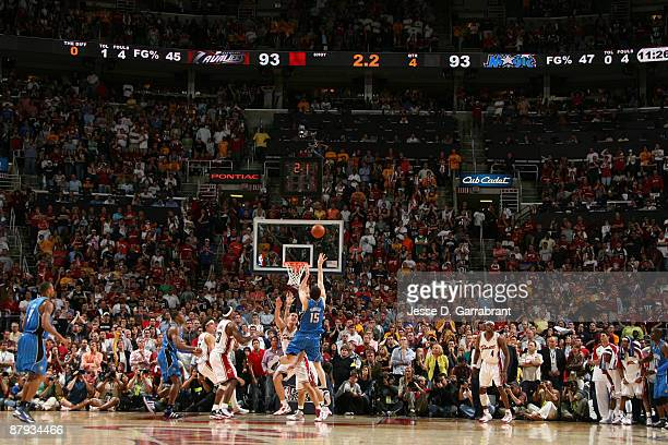 Hedo Turkoglu of the Orlando Magic shoots against the Cleveland Cavaliers in Game Two of the Eastern Conference Finals during the 2009 NBA Playoffs...