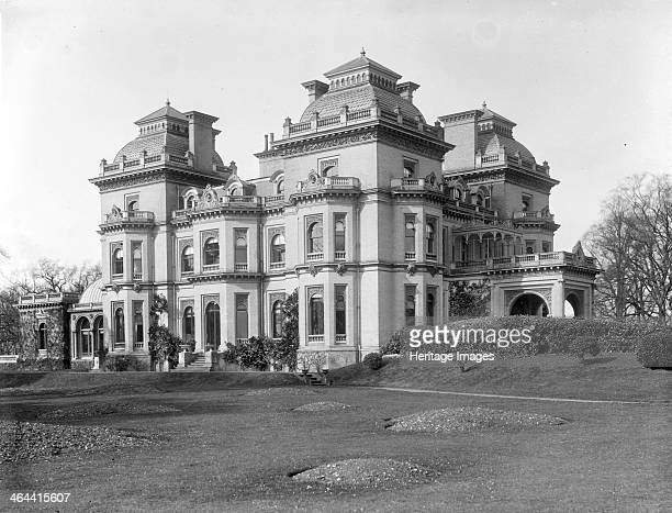 Hedsor House Hedsor Buckinghamshire c1860c1922 The exterior of the house built in 1868 to replace an earlier house further up the hill with large...