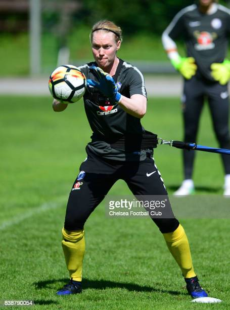 Hedvig Lindahl of Chelsea during a training session on August 25 2017 in Schladming Austria
