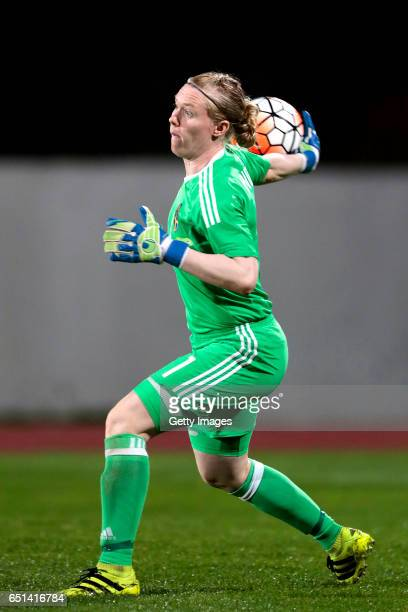 Hedvig Lindahl of Sweden during the Algarve Cup Tournament Match between Sweden W and Russia W on March 8 2017 in Albufeira Portugal