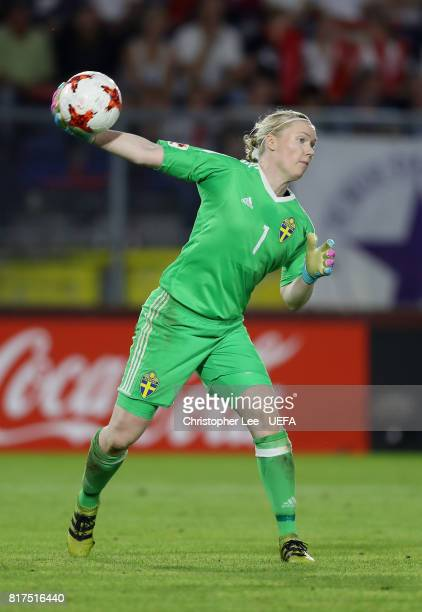 Hedvig Lindahl of Sweden in action during the UEFA Women's Euro 2017 Group B match between Germany and Sweden at Rat Verlegh Stadion on July 17 2017...