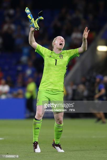 Hedvig Lindahl of Sweden reacts following her team's defeat in the 2019 FIFA Women's World Cup France Semi Final match between Netherlands and Sweden...