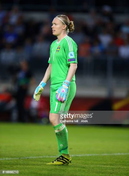 Hedvig Lindahl of Sweden Women during the UEFA Women's Euro 2017 Group B match between Germany and Sweden at Rat Verlegh Stadion on July 17 2017 in...