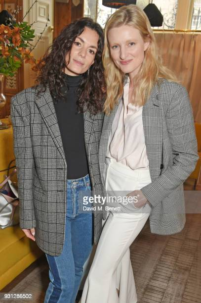 Hedvig Opshaug and Candice Lake attend the Espie Roche launch breakfast at The Chess Club on March 13 2018 in London England